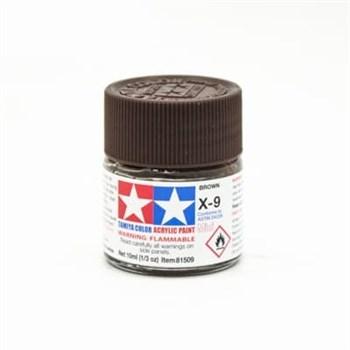(!) Х-9 Brown (Коричневая) краска акрил. 10мл.
