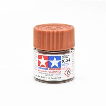 (!) Х-34 Metal Brown краска акрил. 10мл.