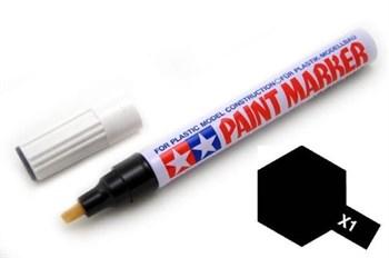 (!) Х-1 (черный) Маркер с эмал.глянцевой краской по пластику,металлу,дереву,стеклу