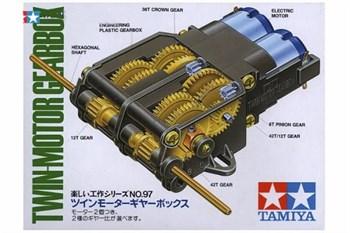 Сборный редуктор с 2 эл.моторами (тип 130), передаточн.отношение 207:1 или 58:1. Подходит для танков М 1/35 с небольшой доработкой.