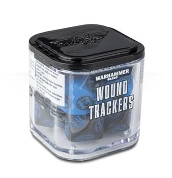 Аксессуары Warhammer: Набор кубиков-счётчиков ранений (Wound Trackers) (Синие)