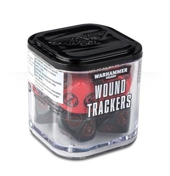 Аксессуары Warhammer: Набор кубиков-счётчиков ранений (Wound Trackers) (Красные)