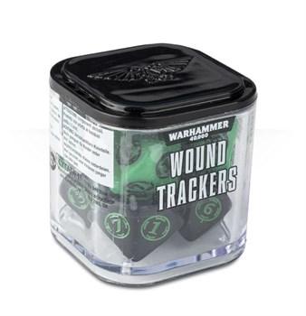 Аксессуары Warhammer: Набор кубиков-счётчиков ранений (Wound Trackers) (Зелёные)