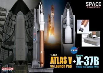 Космический аппарат   Atlas V w/Launch Pad + X-37B Orbital Test Vehicle (OTV)  (1:400)