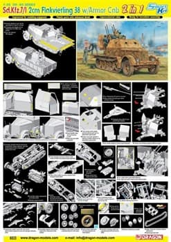 САУ 1/35 Sd.Kfz.7/1 2cm Flakvierling 38 w/Armor Cab  (1:35)