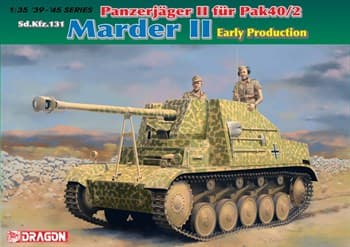 САУ Panzerjager II fur Pak 40/2, Sd.Kfz.131 Marder II Early Production (1:35)