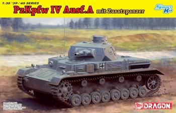 Танк  Pz.Kpfw.IV Ausf.A mit Zusatzpanzer  (1:35)