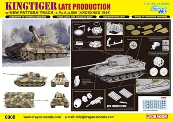 Танк  Kingtiger Late Production w/New Pattern Track s.Pz.Abt.506 Ardennes 1944  (1:35)
