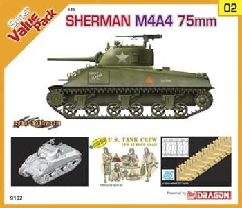 Танк Sherman M4A4 75mm  (1:35)