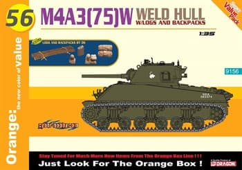 M4a3 (75)W Weld Hull + Logs And Backpacks (1:35)