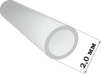 Пластиковый профиль трубка диаметр 2,0 длина 250 мм