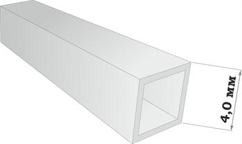 Пластиковый профиль квадратная трубка 4*4 длина 250 мм