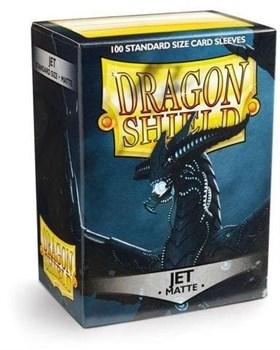 Dragon Shield - Черные матовые (JET) протекторы 100 штук