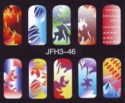 Трафарет для росписи ногтейJFH3-46