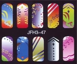 Трафарет для росписи ногтейJFH3-47