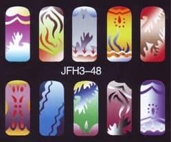 Трафарет для росписи ногтейJFH3-48