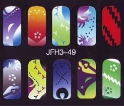 Трафарет для росписи ногтейJFH3-49