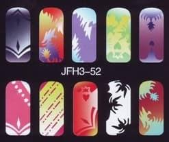 Трафарет для росписи ногтейJFH3-52
