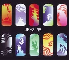 Трафарет для росписи ногтейJFH3-58
