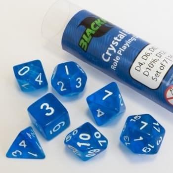Набор кубиков Role Playing Dice Set - Crystal Blue (7 шт, 16 мм)