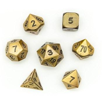 Набор металлических кубиков Ork's Workshop Old Gold