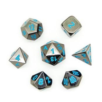 Набор металлических кубиков Ork's Workshop Darksteel Blue