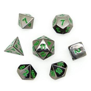 Набор металлических кубиков Ork's Workshop Darksteel Green