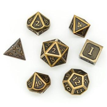 Набор металлических кубиков Ork's Workshop Clockwork Bronze (немного помят корпус)