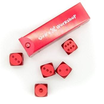 Набор металлических кубиков Ork's Workshop d6 (красный)