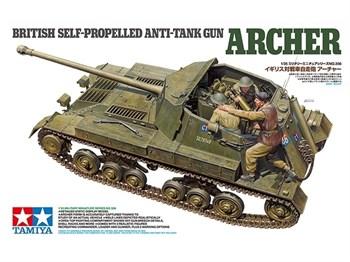Английское самоходное противотанковое орудие Archer, с тремя фигурами.