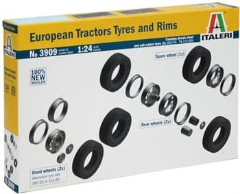 Аксессуары European Tractor Tyres & Rims  (1:24)