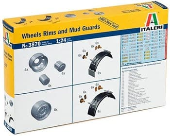 Дополнения К Моделям  Wheels Rims And Mud Guards  (1:24)