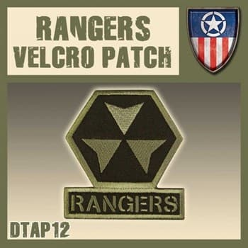 "Rangers Velcro Patch / Нашивка ""Рейнджеры"""