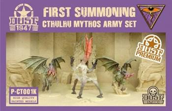 CTHULHU MYTHOS ARMY SET - FIRST SUMMONING (собран и окрашен) Мифы Ктулху Набор Армии - Первый призыв - Окраска Кондор