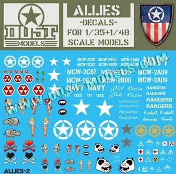 Allies Decals / Декали Союзников