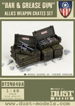 """Bar and Grease Gun Pack"" Allied Weapon Crates Set — Ящики с Оружием «Браунинг и М3»"