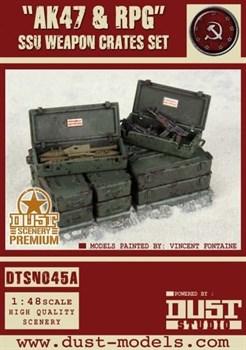 """AK47 & RPG"" SSU Weapon Crates Set (собран и окрашен) Ящики с Оружием «АК47 и РПГ»"