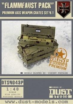 """""""Flammfaust Pack"""" Axis Weapon Crates Set 1 (собран и окрашен) Ящики с Оружием «Фламмфауст»"""