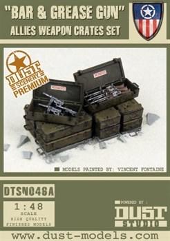 """Bar and Grease Gun Pack"" Allied Weapon Crates Set (собран и окрашен) Ящики с Оружием «Браунинг и М3»"