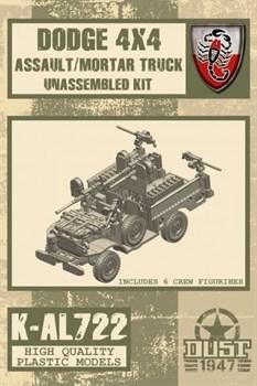 ASSAULT/MORTAR TRUCK Dodge 4x4 (не собран не окрашен) Штурмовая / Минометная машина