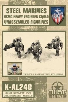 HEAVY ENGINEER SQUAD (не собран не окрашен) USMC Тяжелое Инженерное Подразделение