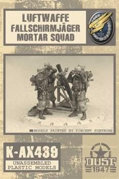 FALLSCHIRMJAGER MORTAR SQUAD (не собран не окрашен) Фальширмягер Минометное Подразделение