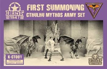 CTHULHU MYTHOS ARMY SET - FIRST SUMMONING (не собран не окрашен) Мифы Ктулху Набор Армии - Первый призыв