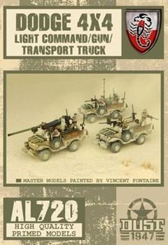 Dodge 4x4 Light Command/Gun/Transport truck (собран и склеен) Пустынные Скорпионы Машина
