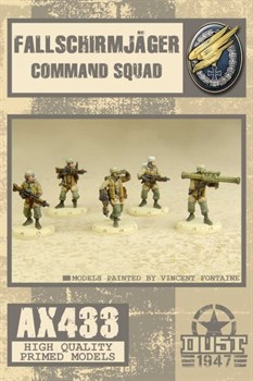 Fallschirmjager Command Squad (собран и загрунтован) Фальширмягер Командное Подразделение