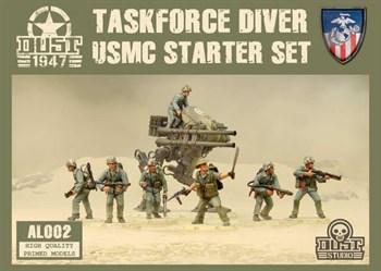 USMC Starter Set - Taskforce Diver (собран и загрунтован) УСМС Стартовый Набор — Дайвер