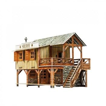 Дикий запад. Дом шерифа. Сборная модель из картона