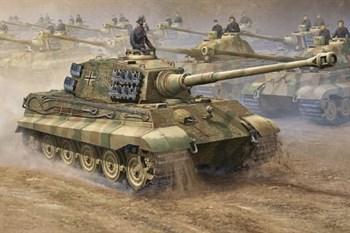 Танк  Королевский Тигр с 2 башнями: Порше и Хеншель (1:16)