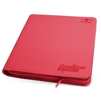 12-Pocket QuadRow Zipfolio XenoSkin Red