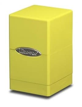 "Коробочка ""Ultra-Pro"": Сатиновая башня: желтая"